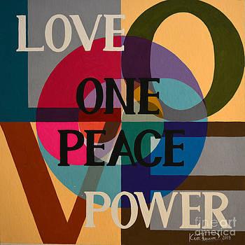 Peace Love Oneness 1 by Heewon Kim