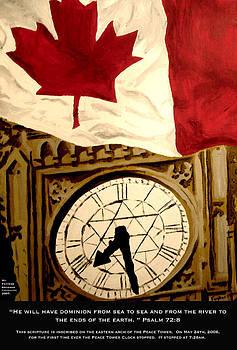 Peace Tower Clock by Faytene Grasseschi