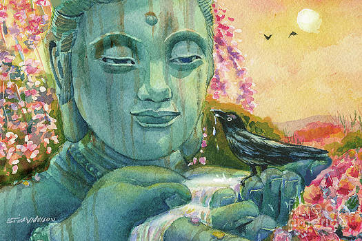 Peaceful Encounter Buddha by Erika Nelson
