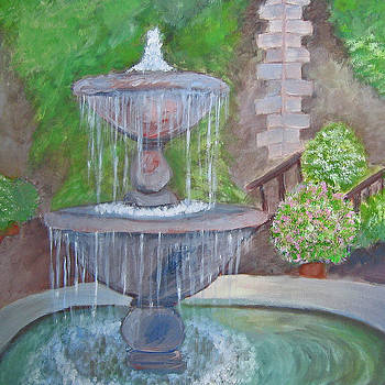 Peaceful Fountain by Robin Chaffin