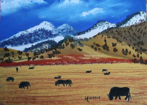 Peaceful Grazers by Michele Turney