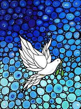 Sharon Cummings - Peaceful Journey - White Dove Peace Art