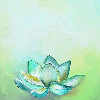 Peaceful lotus by Cathy Walters