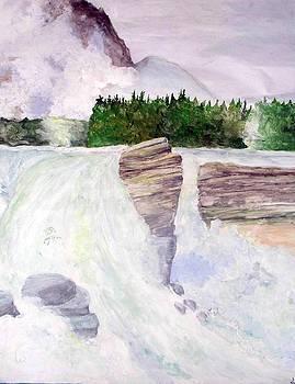 Peaceful Waterfall by Sasha Niala Pustam