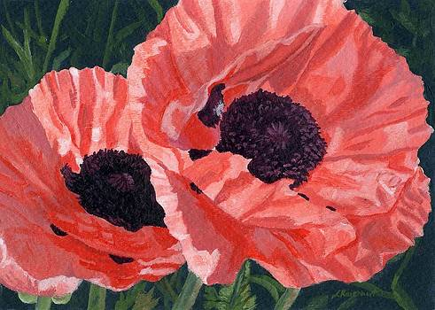 Peachy Poppies by Lynne Reichhart
