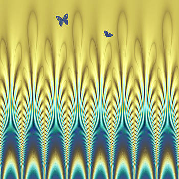 Peacock Abstract 8 by Faye Symons