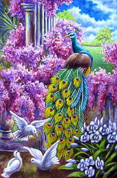 Peacock from a Dream by Sebastian Pierre