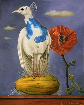Leah Saulnier The Painting Maniac - Peacock On A Papaya pro image