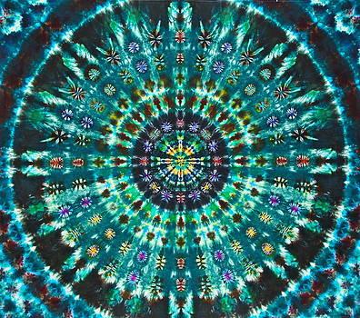 Peacock Throne Mandala by Courtenay Pollock
