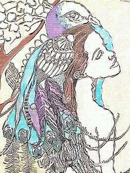Peacock Woman 2 by Amy Sorrell