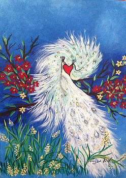 Peacocks in Love by Sima Amid Wewetzer