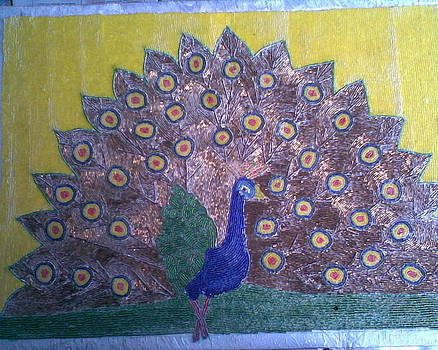 Peafowl by Laurie Kanat