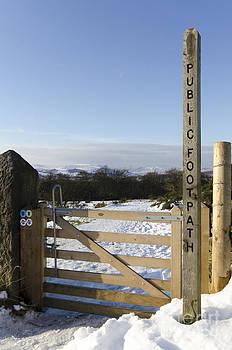 Peak District footpath by Steev Stamford