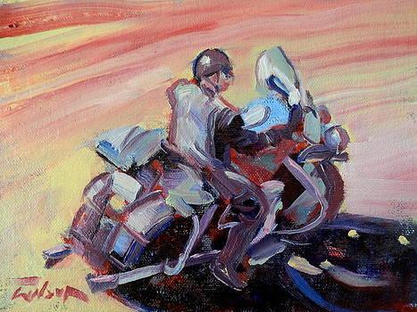 Peanut Lid Biker - Skid Lid helmet by Ron Wilson