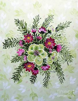 Barbara Griffin - Pear Blossoms Cosmos Painting