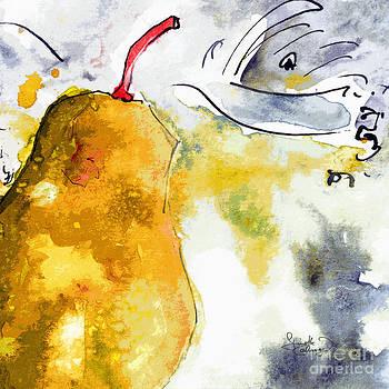 Ginette Callaway - Pear Modern Whimsical Art