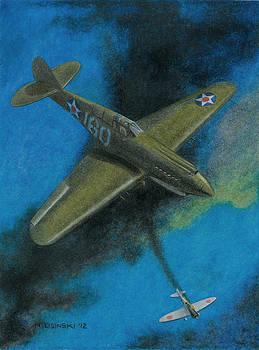 Pearl Harbor P-40 by Norb Lisinski