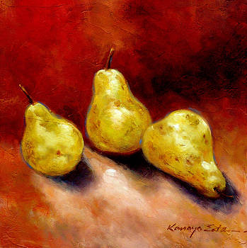 Pears - Luscious fruit painting by Kanayo Ede
