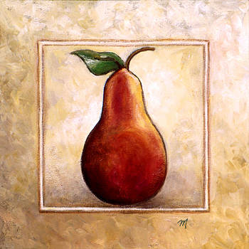 Linda Mears - Pears Diptych panel one of two