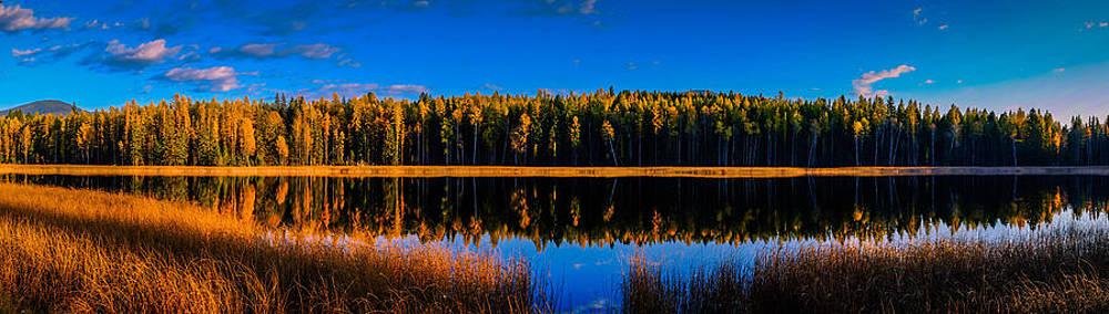 Peavine Pond Panorama by Rob Tullis
