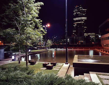Peavy Plaza at Night by Lonnie Paulson