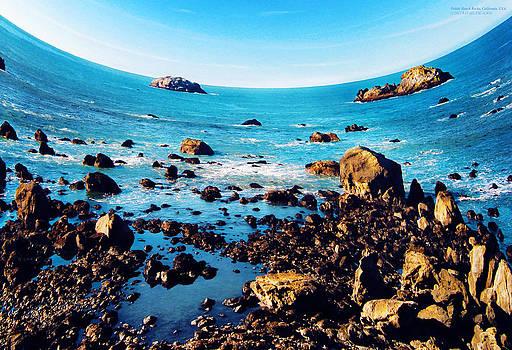 Pebble Beach Rocks by Rafael Escalios