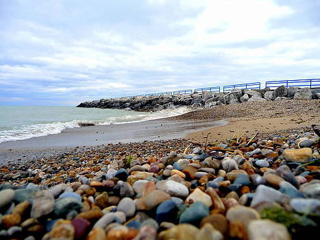 Pebbles and Breakwall by Pete Dionne