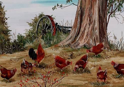 Pecking Around by Val Stokes