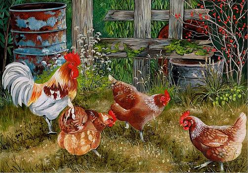 Pecking Party by Val Stokes