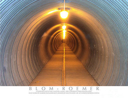 Pedestrian Tunnel Abstract by Kimberly Blom-Roemer
