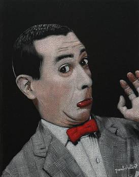 Pee Wee Herman Black Velvet Painting by Diane Bombshelter