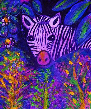 Anne-Elizabeth Whiteway - Peek-a-Boo Zebra at Night