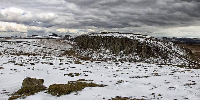 David Pringle - Peel Crags in Winter
