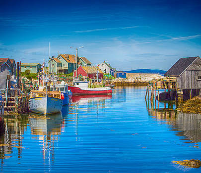 Peggy's Cove Boats Nova Scotia by James Gordon Patterson