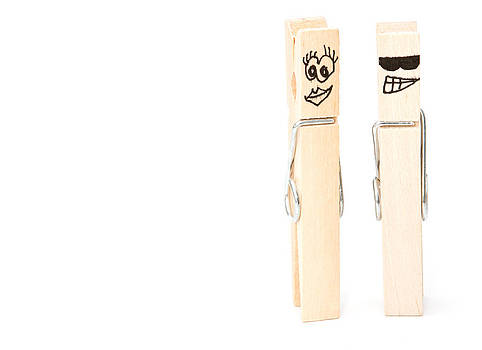 Fizzy Image - pegs showing happy man and woman concept