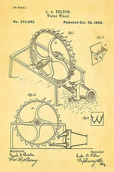 Ian Monk - Pelton Water Wheel Patent Art 1880