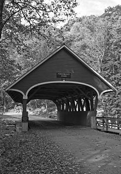 Pemi River Bridge 2 - Black and White by Kristen Mohr