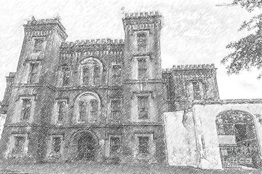 Dale Powell - Pencil Drawing of Old Jail