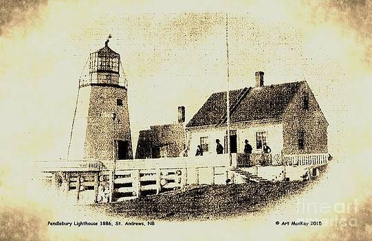 Art  MacKay - Pendlebury Lighthouse St Andrews NB 1886