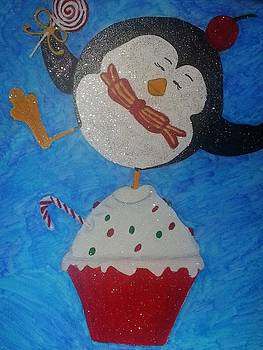 Penguin on a Cupcake by Barbara Yodice