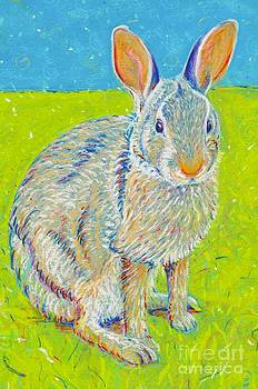 Penny the Rabbit at Snickerhaus Garden by Christine Belt