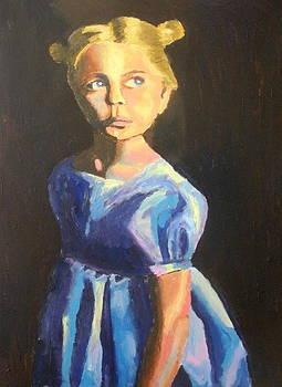 Pensive girl by Mats Eriksson