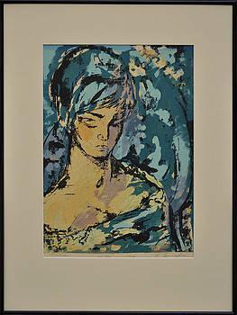 Pensive Silk Screen Print by Cunningham