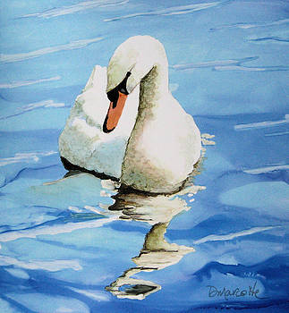 Pensive Swan by Diane Marcotte