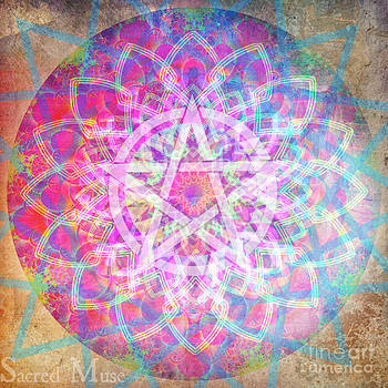 Pentacle Mandala  by Sacred  Muse