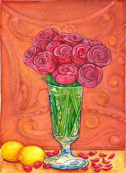 Peonies and Lemons by Barbara Esposito