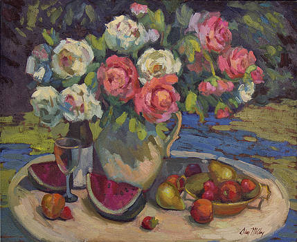 Diane McClary - Peonies and Summer Fruit