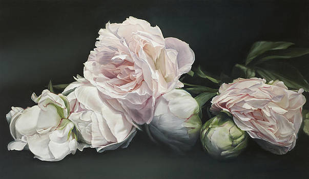Peonies Classical 114 x 195cm by Thomas Darnell
