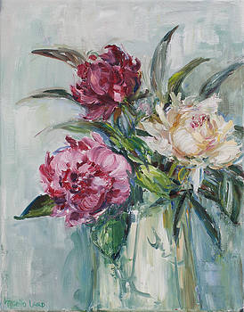 Peonies for Andrea  by Theresa Grillo Laird