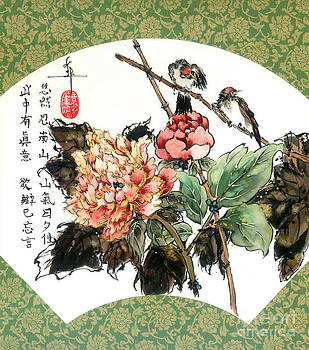 LINDA SMITH - Peony and Finches